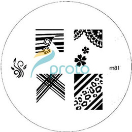 Wholesale Freeshipping M Series Round Stainless Steel Image Plate Nail Art Stamping Plate