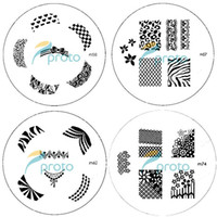 Wholesale PROMOTION M Series Round Stainless Steel Image Plate Nail Art Stamping Plate Template