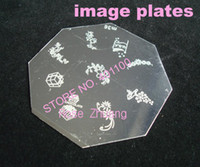 Wholesale Freeshipping eight square Stainless Steel Image Plate Nail Art Stamping Plate Wholesales M series