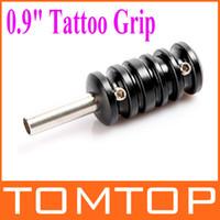 Alloy aluminum gun grips - Aluminum Alloy quot Tattoo Grip with Back Stem for Tattoo Machine Gun Black H8903
