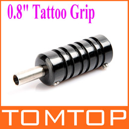 Wholesale Aluminum Alloy quot Tattoo Grip with Back Stem for Tattoo Machine Gun Black H8904