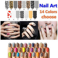 Wholesale Shiny Self Adhesive Minx Style Nail Sticker NEW Foil Nail Patch Art Product packs pack