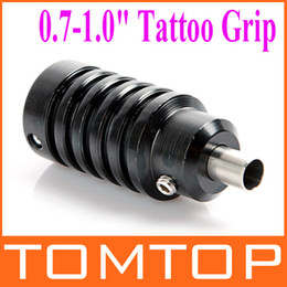 Wholesale 5pcs Aluminum Alloy quot Tattoo Grip with Back Stem for Tattoo Machine Gun Black H8905