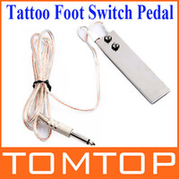 Wholesale 1 m ft Mini Stainless Steel Foot Switch Pedal for Tattoo Machine Gun Power Supply H8907