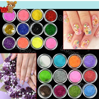 Natural Tips Full Nail 2012 New Arrival 24 Colors Metal Shiny Acrylic Nail Powder Glitter Dust Kit UV Stamp Art Tool 3069