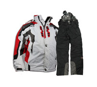 Wholesale Ski suit Spider Ski Jacket Ski clothes jackets pants men Jackets waterproof jackets white