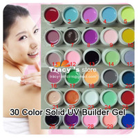 Wholesale FreeShipping Solid Pigment Builder Milky Acrylic Tips Glue Color UV Gel Nail Art Mix Pure Bulidin