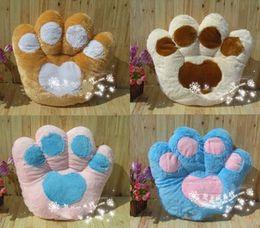 Wholesale 17 bear s paw hold pillow seven color plush dolls toys