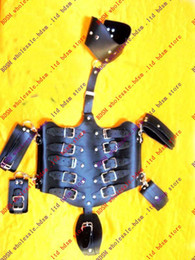 BDSM FATORY Tortoise shell Boby Restraints Arm-Neck-Waist Restraint Set with Buckles