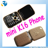 Wholesale Mini Cell Phone K16 with Analog TV Dual SIM Cards Bluetooth MP3 MP4 FM Radio