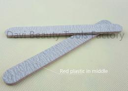 Wholesale Sandpaper Free Shipping - emery board 50pcs lot Nail file Red plastic grey sandpaper emery file for nail art FREE SHIPPING