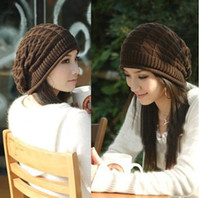 Wholesale woman knitted cap adult cap beautiful girl Winter knitted hat free size free ship