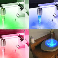 Wholesale 3 Colors LED Light Tap Temp Sensitive Color Change Water Faucet Water Stream Temperature Sensitive
