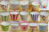 Wholesale Beautiful cupcake Baking tray paper cake cups baking mold Muffin Cups cases bear high temperature