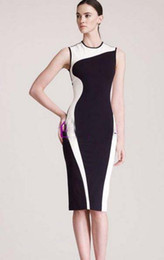 Wholesale Fashion Work Dresses Colors Mosaic Graceful curve Sleeveless slim women s dresses colors