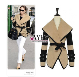 Wholesale 2013 New Hot Fashion Cozy Women Military Victorial Clothes Cape Outwear Big Turn Down Winter Coat