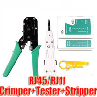 Wholesale New Network LAN Cable Crimper Tester RJ45 Striper Impact