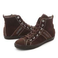Wholesale hi cut men s canvas shoes Brown sports shoes running shoes For Men s Casual shoes Tennis Sneakers