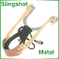 Wholesale Stainless Steel Catapult Slingshot Launcher Wrapped with Rope Rubber Strip