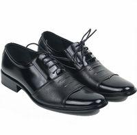 Wholesale New Italy Men Leather Shoes Men s Casual Shoes Wedding Shoes Dress Shoes Black Size V3081
