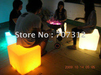 Wholesale Hot led furniture LED cube Chair CM Hot bar stool