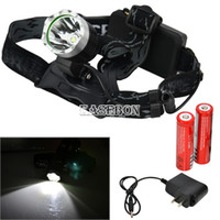 Wholesale 3 Modes lms CREE XML T6 LED Headlamp Head Torch Lamp Flashlight AC Charger