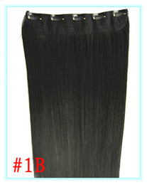 Wholesale 10pcs quot G Set Straight Five Clips In Synthetic Hair Extension B Colors In Stock