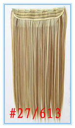 Wholesale 15 Colors Choosen PC Set quot Straight clips Synthetic Hair Extension High Tempeature Fiber