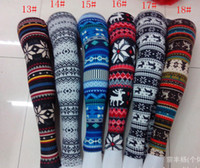 Wholesale Lady Leggings Imitation cashmere Snowflakes fawn series tights women Ninth pants many designs
