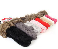Wholesale 2012 Women s Winter Make By Hand Mitten Gloves Thick Warm Gloves Fur Wool Gloves Hand Wrist glove
