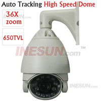 Wholesale CCTV inch TVL X Optical Zoom mm Auto Tracking High Speed Dome PTZ IR Camera Focus length mm