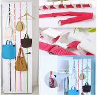 Wholesale Over Door Straps Hanger Adjustable Hat Bag Clothes Coat Rack Organizer Hooks