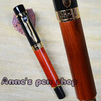 Highlighters   FREE SHIPPING JINHAO 650 NOBLEST RED ROSEWOOD AND BLACK BROAD NIB FOUNTAIN PEN