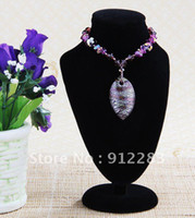 Wholesale Hot Sell Wholsale mm Black Velvet Bust Necklace Display Stand Fashion Jewelry Necklace Showcase Display Stand