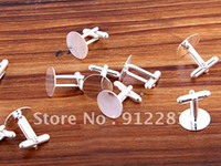 Wholesale mm DIY Silver Plated Round Metal Cufflink Backs Fashion Cufflink