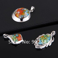 Wholesale Hot Sell Mix Shape Millefiori Murano Lampwork Glass Pendants