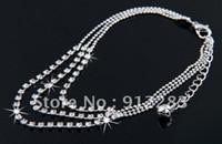 Wholesale 2015 New High Quality Hotsale Fashion Rows Rhinestone Metal Anklet Bracelet Ankle Bracelet