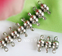 Wholesale Exquisite trendy Jewelry DIY mm Silver Tone Bracelet Necklace Magnetic Clasp Fashion Jewelry