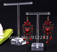 Wholesale Sets Band Clear Organic Glass Earring Display Stand Fashion Jewelry Display