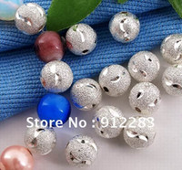 Wholesale HOT DIY mm Silver Dull Polish Ball Beads Spacer Fashion Jewelry Beads Spacer
