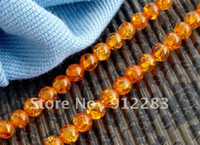 Wholesale Jewelry DIY Strands mm Round Orange Amber Loose Beads Fashion Loosen Beads