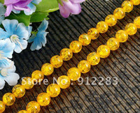 Wholesale Jewelry DIY Strands mm Round Yellow Amber Loose Beads Fashion Loosen Beads