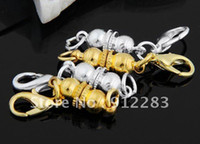 Wholesale Jewelry DIY Silver Gold Tone Magnetic Bracelet Necklace Clasps With Lobster Clasps