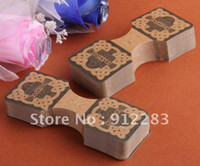 Wholesale mm Brown Fold Over Necklace Hanging Jewelry Display Paper Cards Showcase Counter Table Fashion Jewelry Card