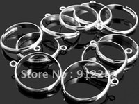 Wholesale mm Adjustable Silver Plated Iron Loop Charm Ring Blanks Fashion Jewelry Findings