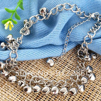 Alloy anklet bells free shipping - Silver Tone mm Bells Metal Anklets Ankle