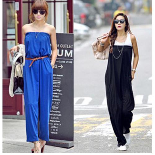 393cb50b27249 Hot Fashion women casual jumpsuit strapless tube jumpsuits Korean style  micro fiber jumpsuit 2 color