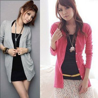 Wholesale Women s T Shirt Free Size Color Cotton Long Sleeve V Neck women sweater knitwear A1