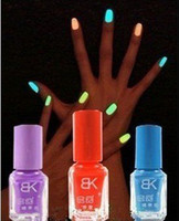 Pinks Nail Polish Gradient Fast shipping BK fluorescent polish nail oil 2012 glow in the dark, magnetic neon luminous art nailo