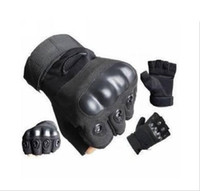 Wholesale 1 pair Black Outdoor Sports Fingerless Tactical Airsoft Hunting Cycling Bike Gloves